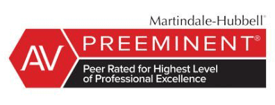 Badge for Martindale-Hubbel highest level of professional excellence